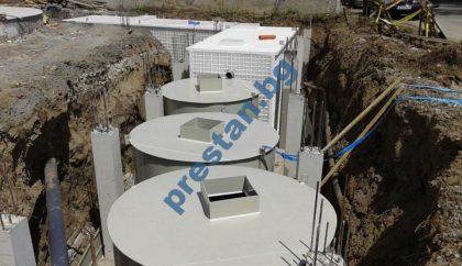 Приложение на пречиствателна станция с резервоар за бизнес сграда