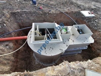 пречиствателна станция с интегриран резервоар